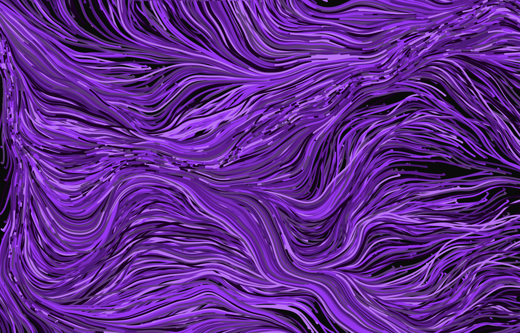 zoomed out, flowy lines
