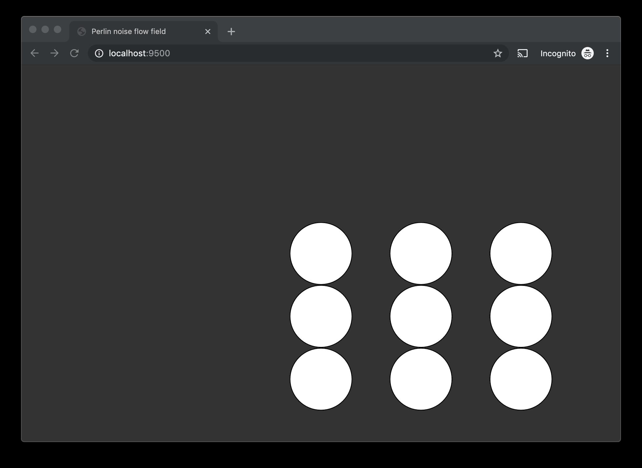 multiple white circles